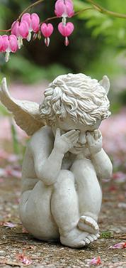 Trauer Engel tränendes Herz